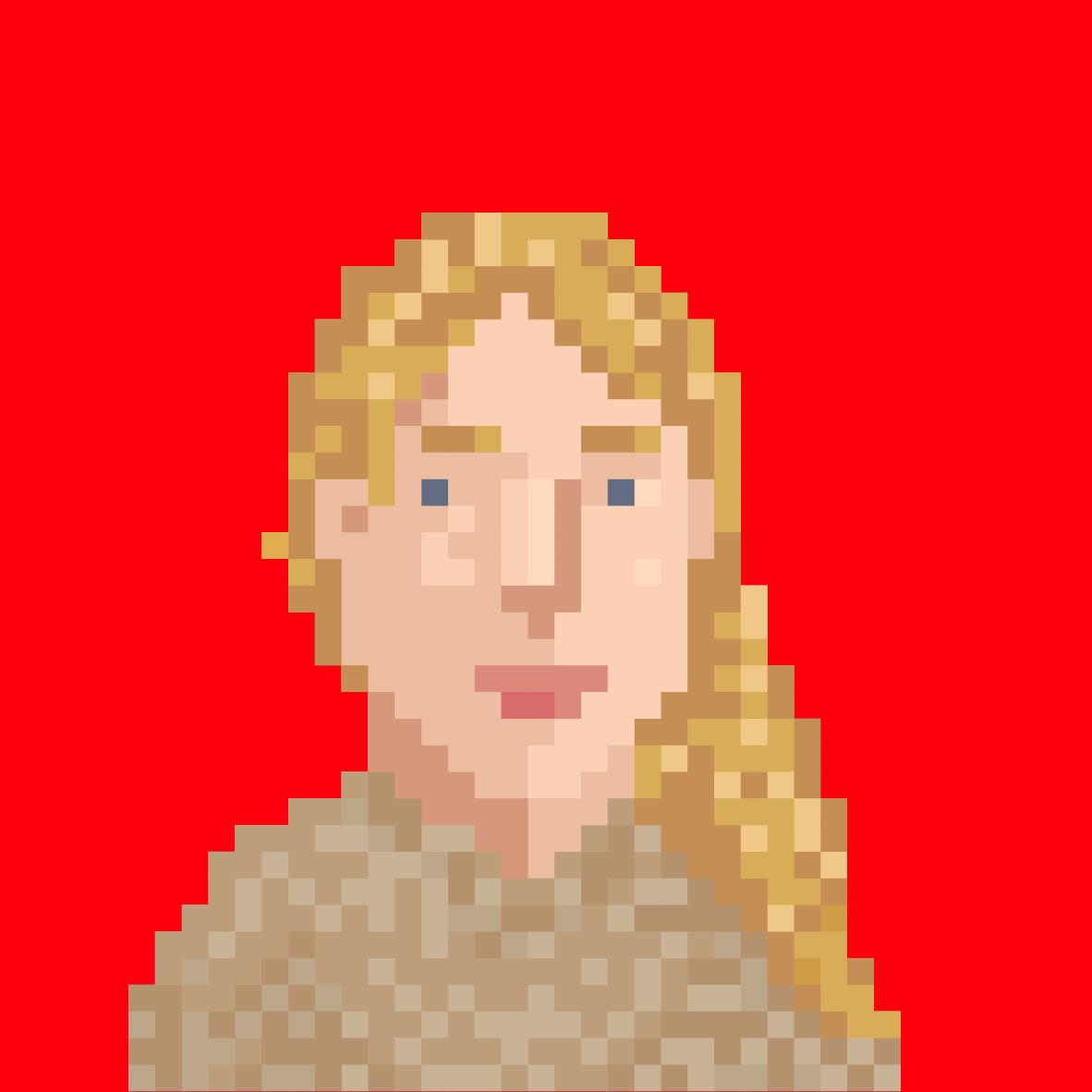 Pixelportrait von Alexandra klenter