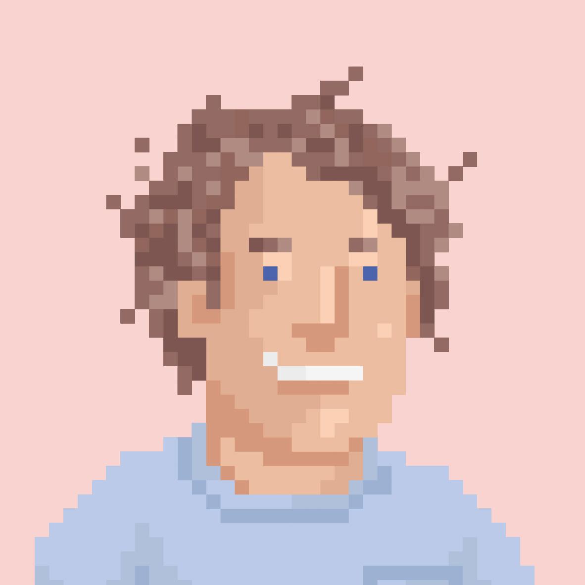 Pixelportrait von Benjamin Behrendt
