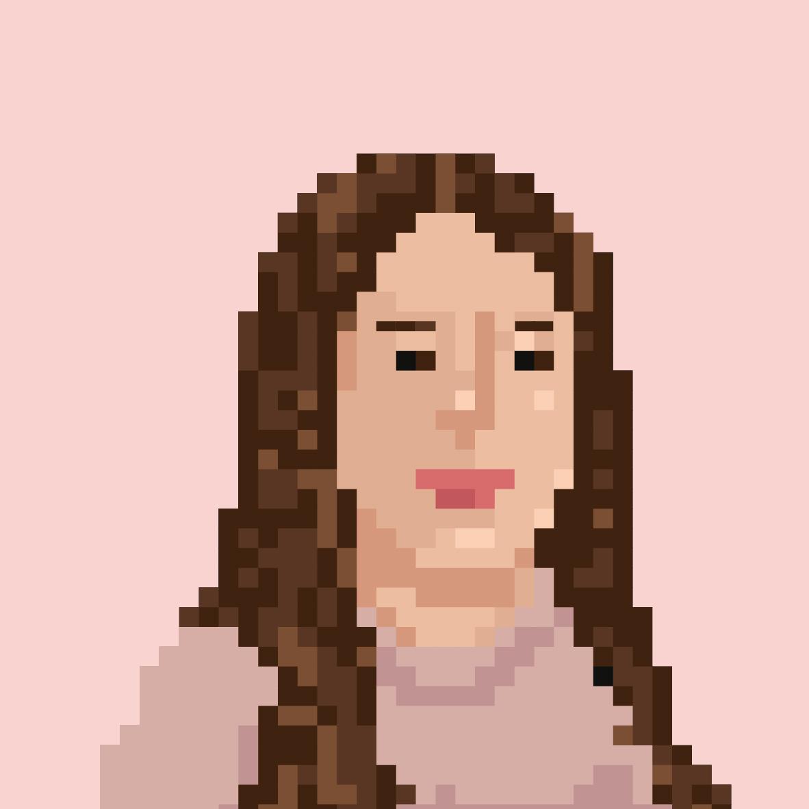 Pixelportrait von Christina Vedar