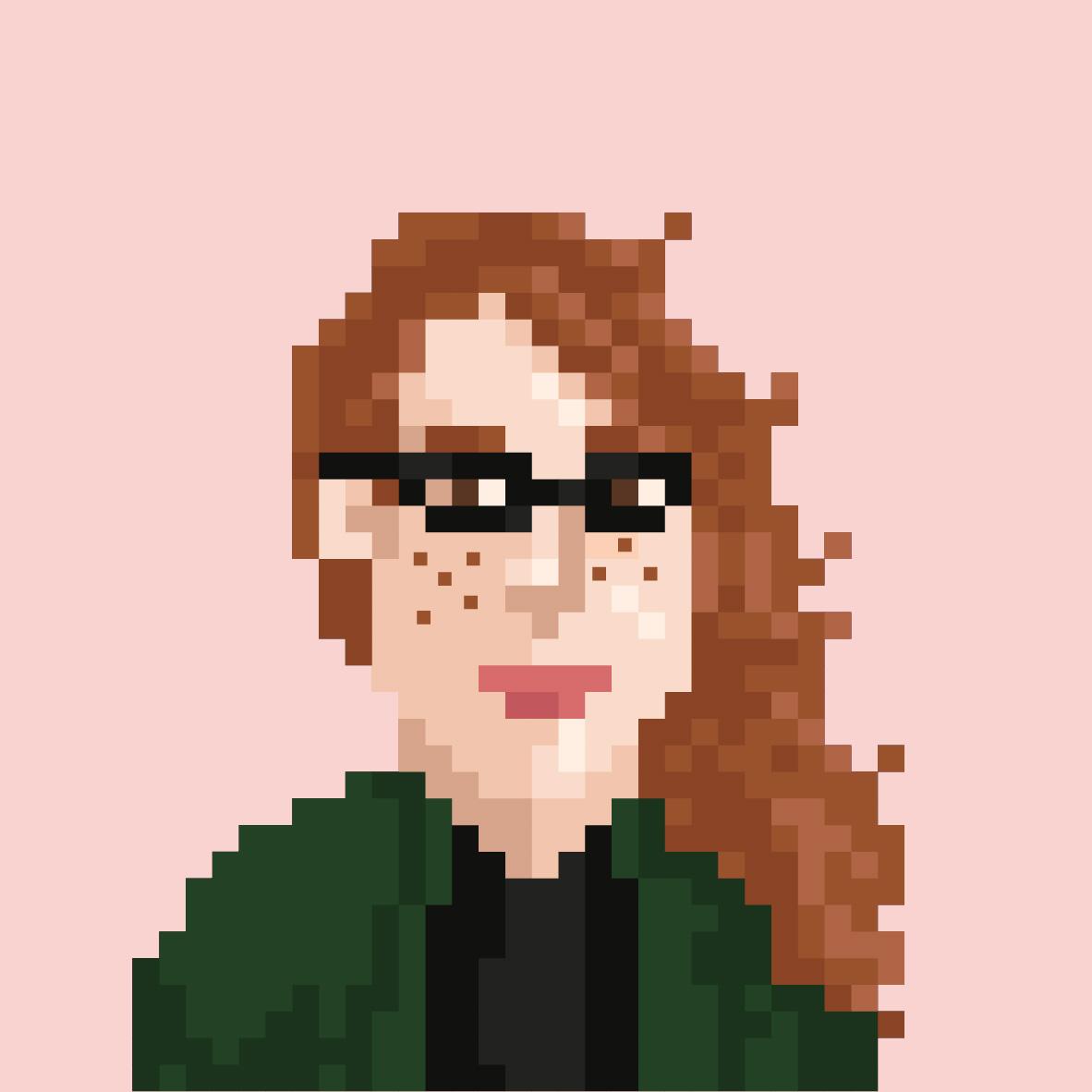 Pixelportrait von Maren Hötten