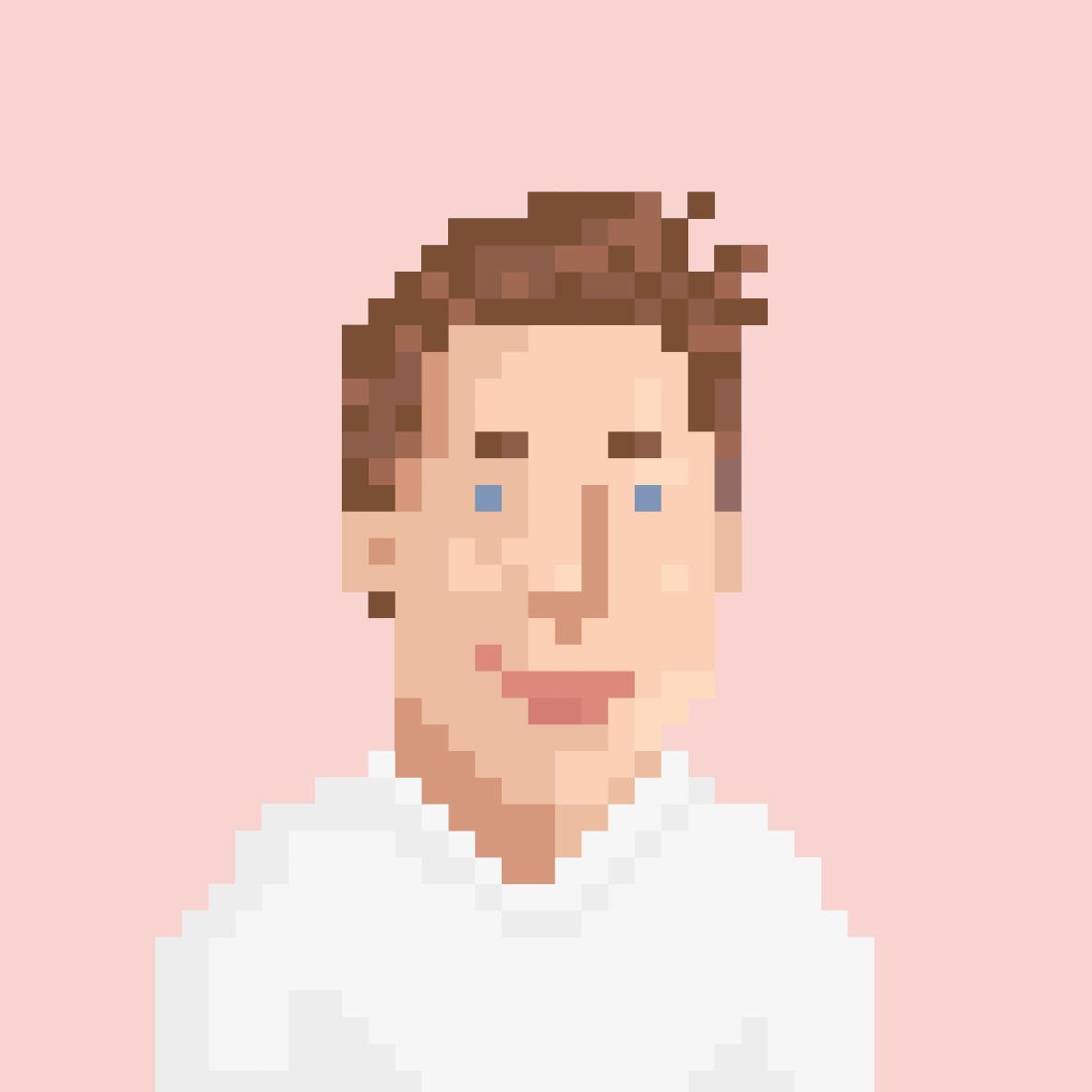 Pixelportrait von Philipp Hartung