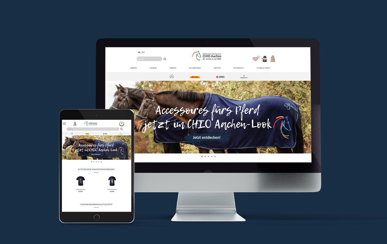 Responsive Webdesign für den CHIO Aachen von der Yip Yips Agentur