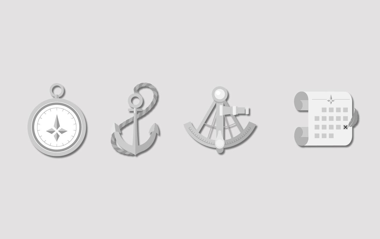 Individualisierte Icons für die Website von assekuron