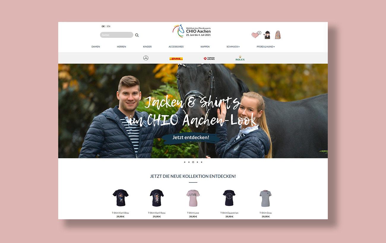 Shop Design für den CHIO von der Yip Yips Agentur Aachen - Startseite