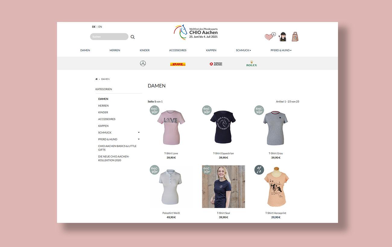 Shop Design für den CHIO von der Yip Yips Agentur Aachen - Überblick