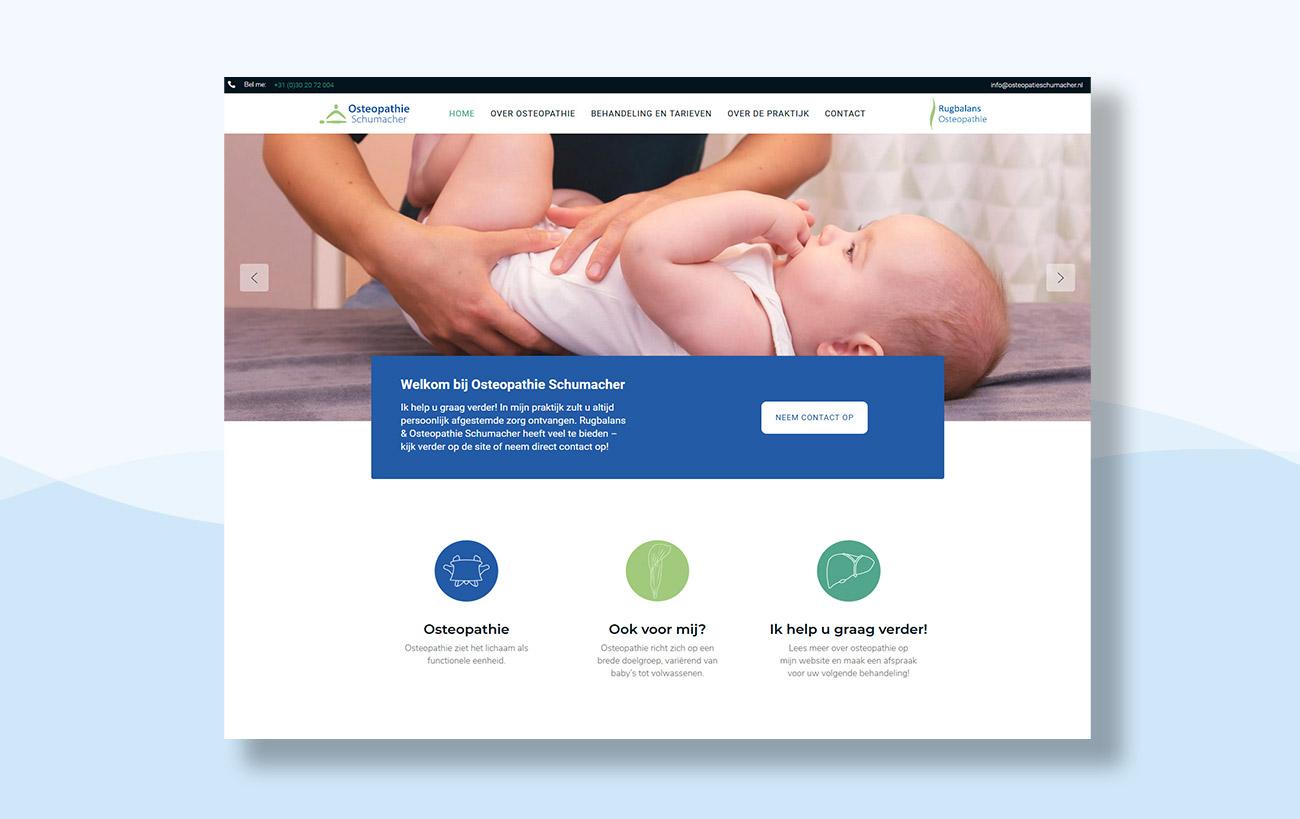 Webdesign für Osteopathie Schumacher - Startseite