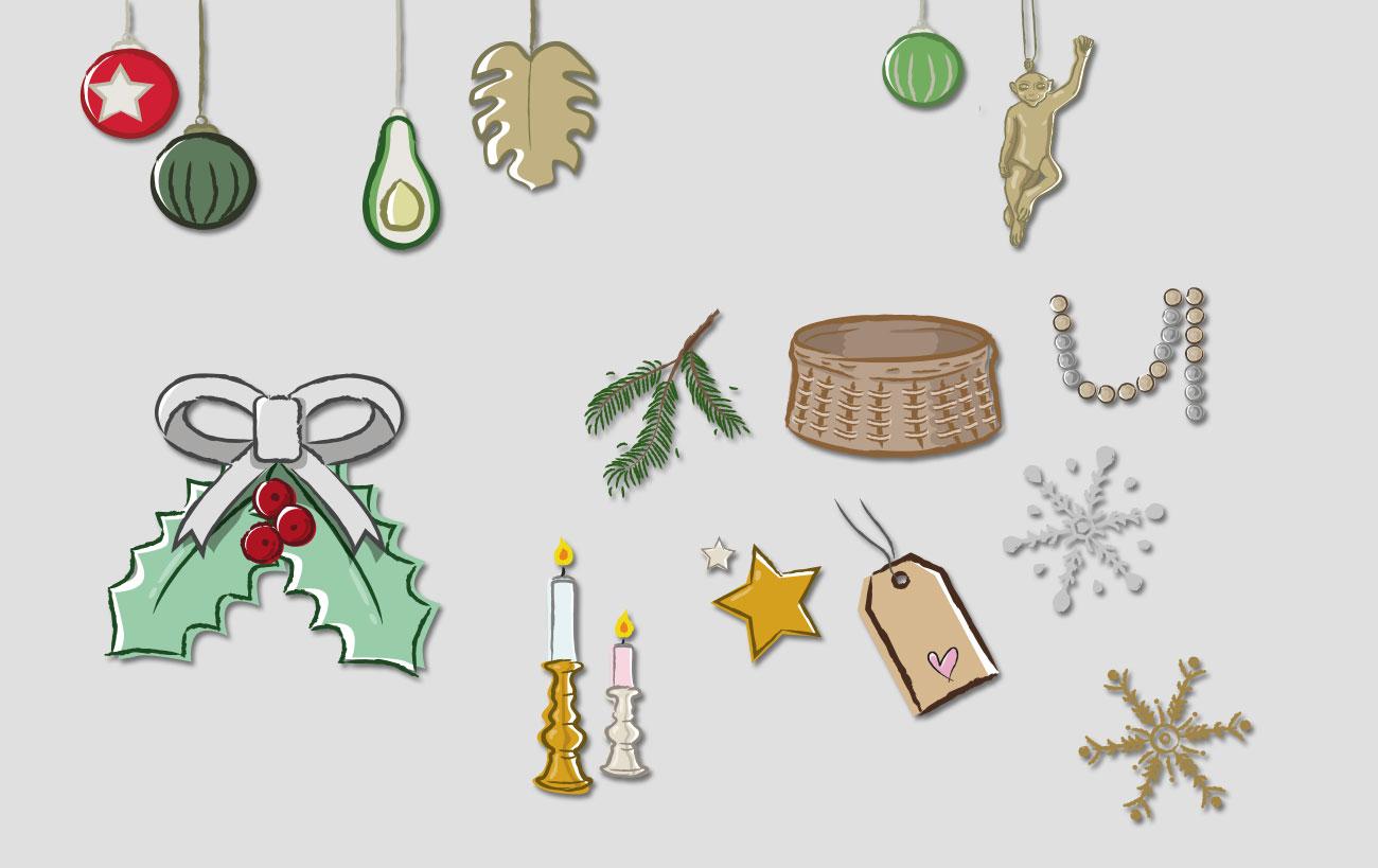 Winterliche Illustrationen für den Webshop von dasherzallerliebste