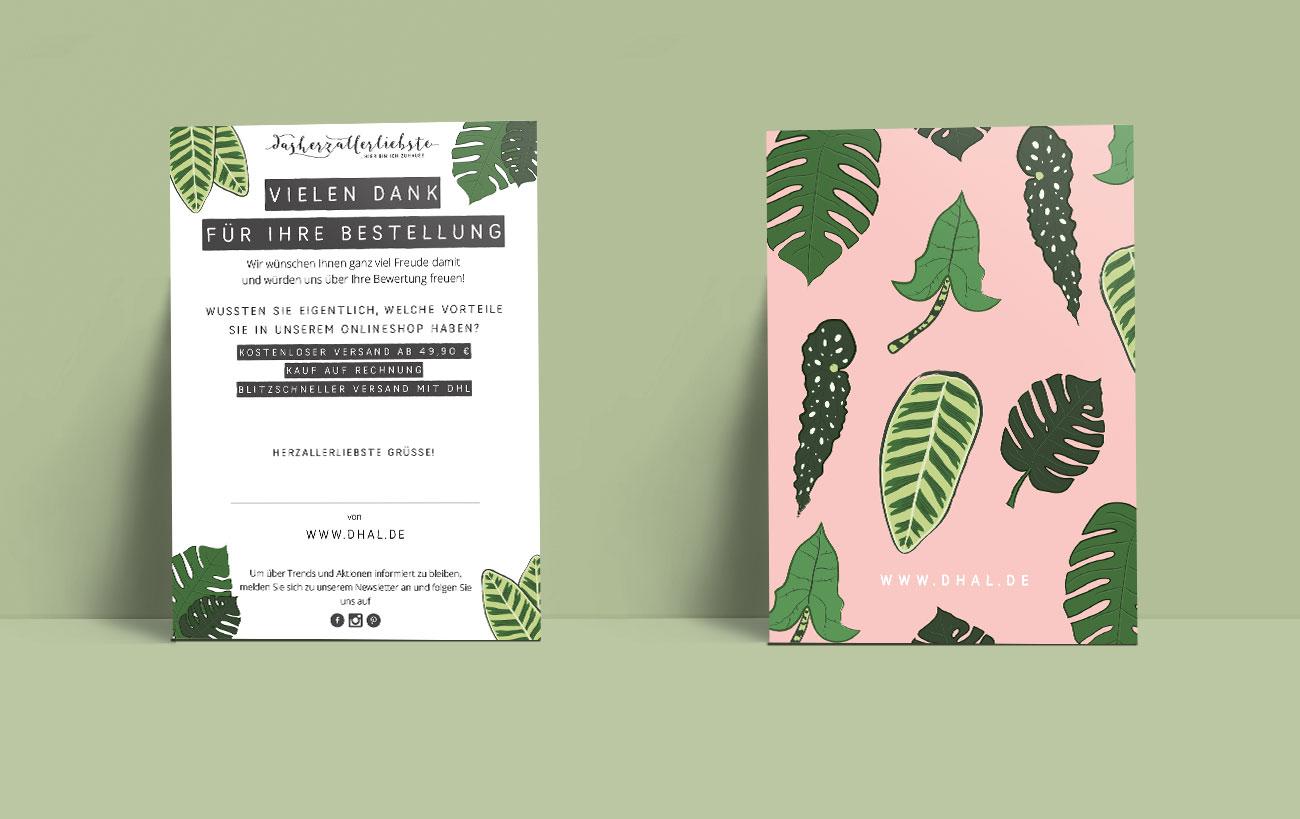 Design Postkarte für dasherzallerliebste von der Yip Yips Agentur - Pfanzliches Motiv
