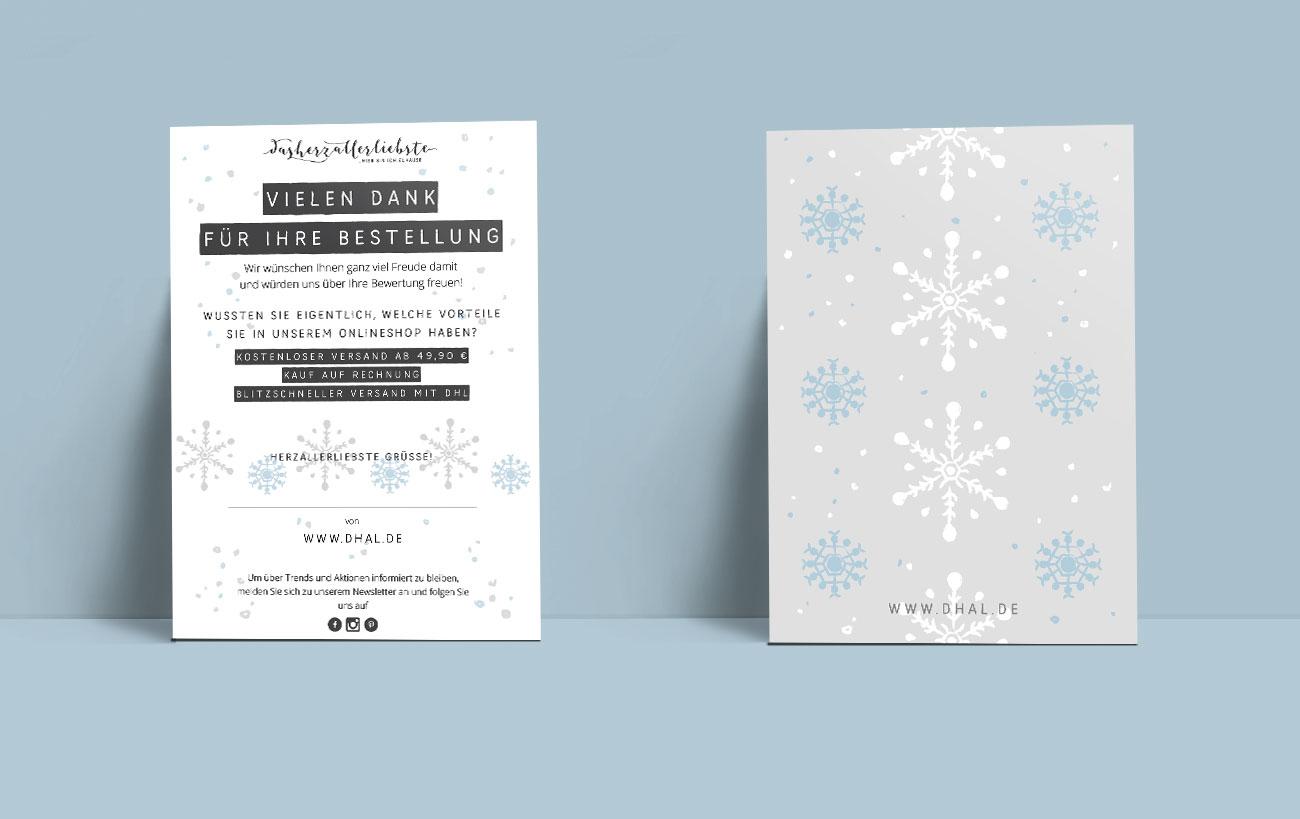 Design Postkarte für dasherzallerliebste von der Yip Yips Agentur - Winterliches Motiv