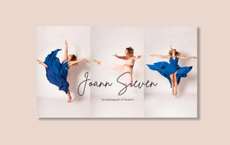 Header für Website von Joann Sieven