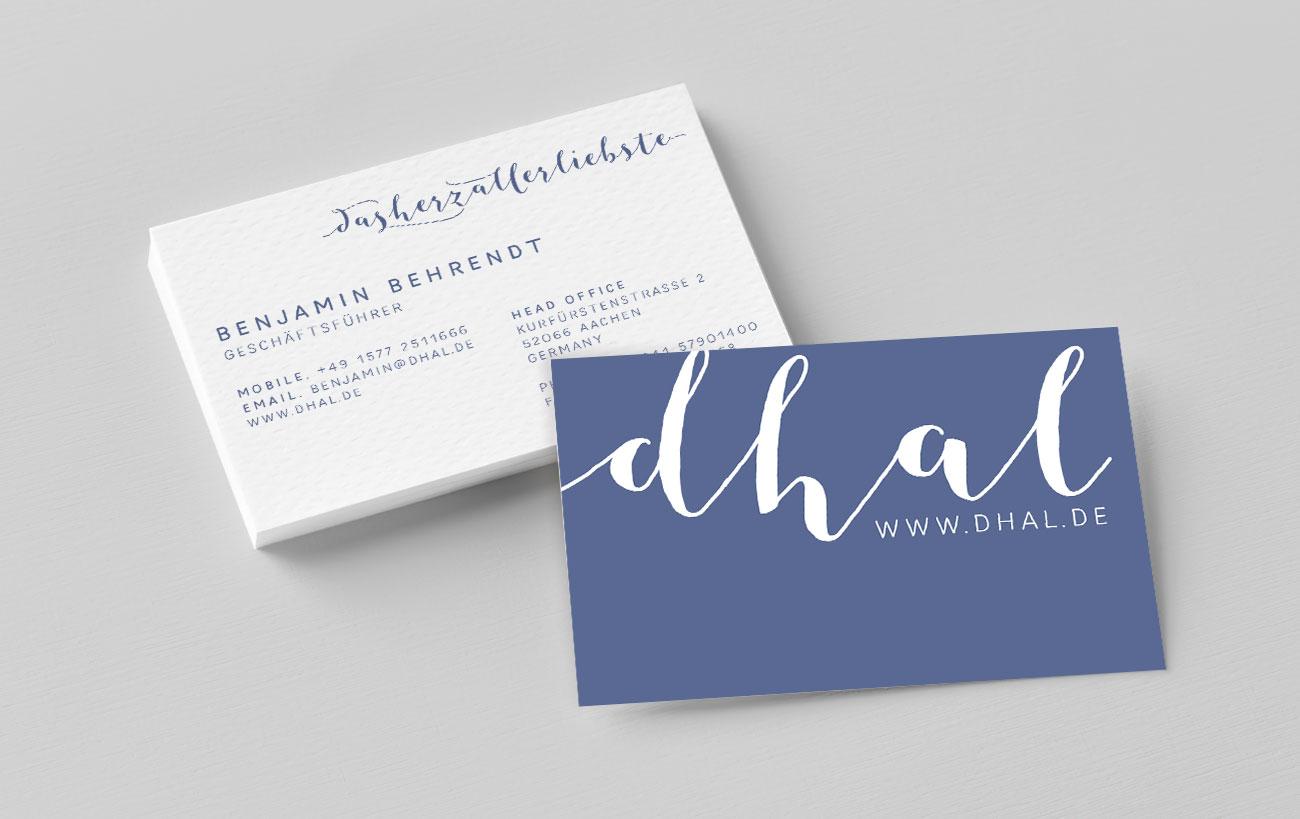 Visitenkarten für dhal von Yip Yips