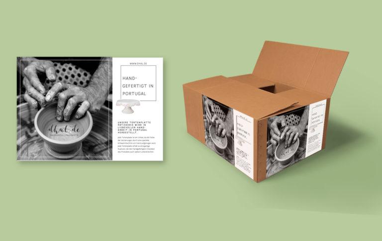 Packaging Design für dhal - Paketdesign und Produktbeilage für handgemachte Töpferware