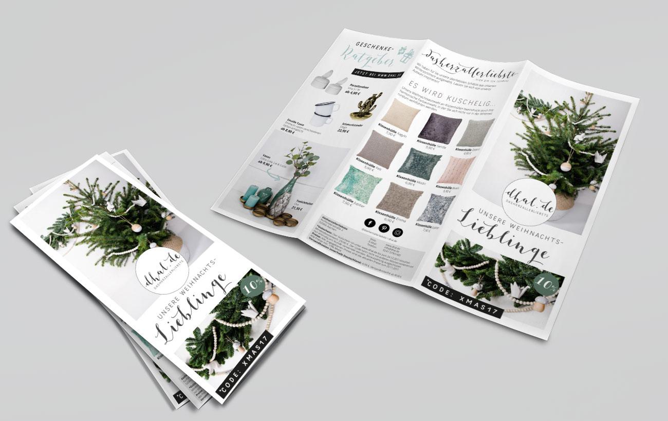 Prospekt Design für dhal von der Yip Yips Agentur Aachen