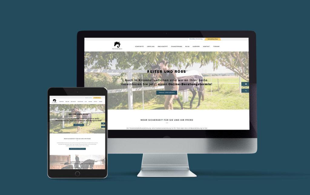 Webdesign für Reiter und Ross, Responsive Design | Yip Yips Agentur für Webdesign Aachen