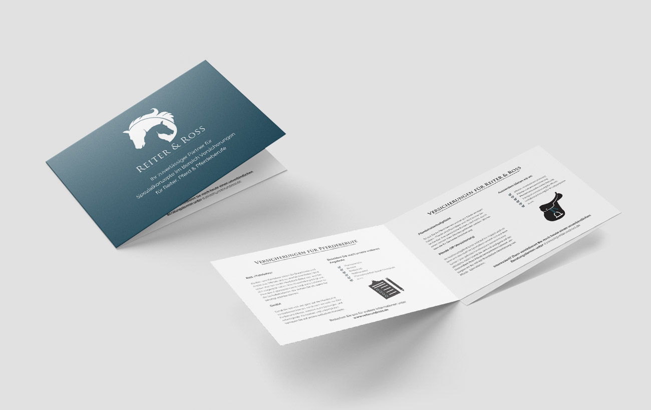 Corporate Design für Reiter&Ross - Infobroschüren Design