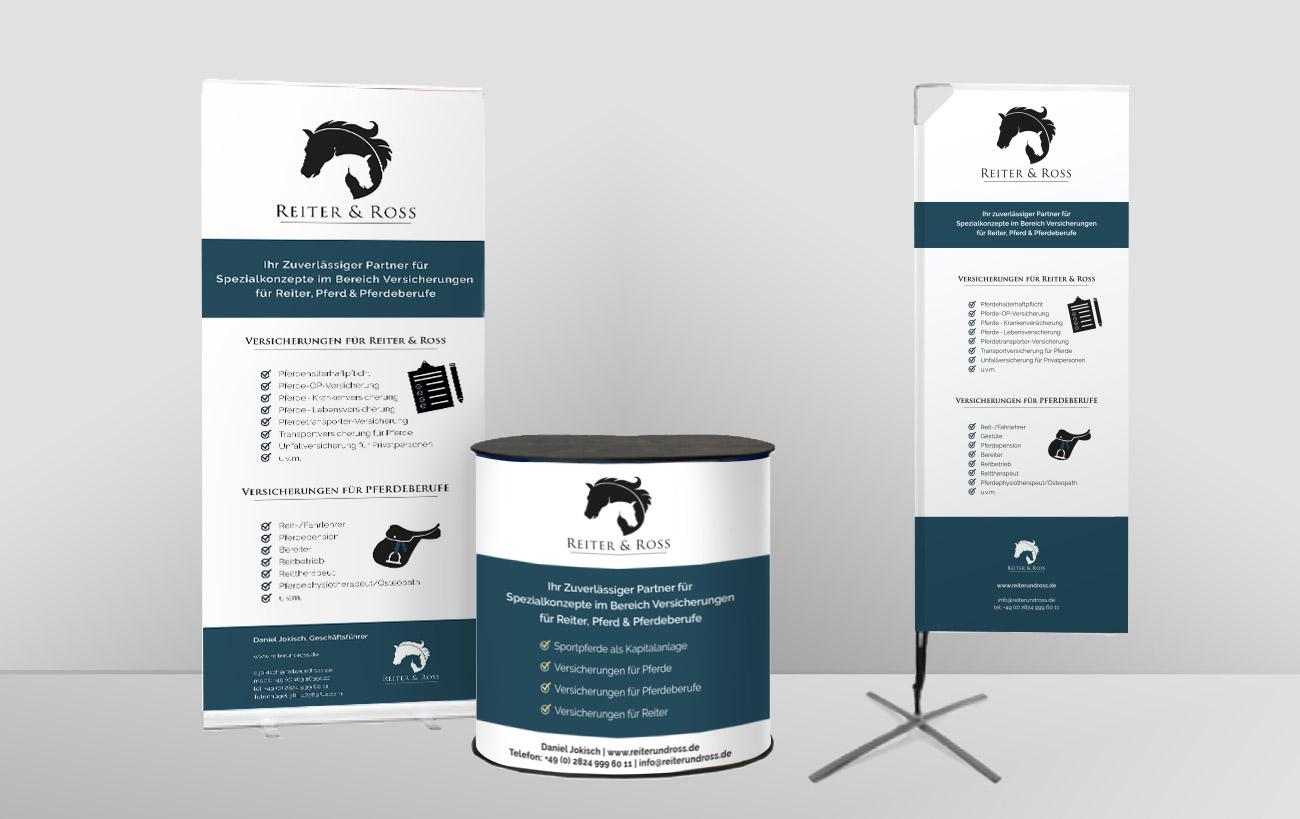 Design einer Standausstattung für Reiter&Ross von der Yip Yips Agentur Aachen