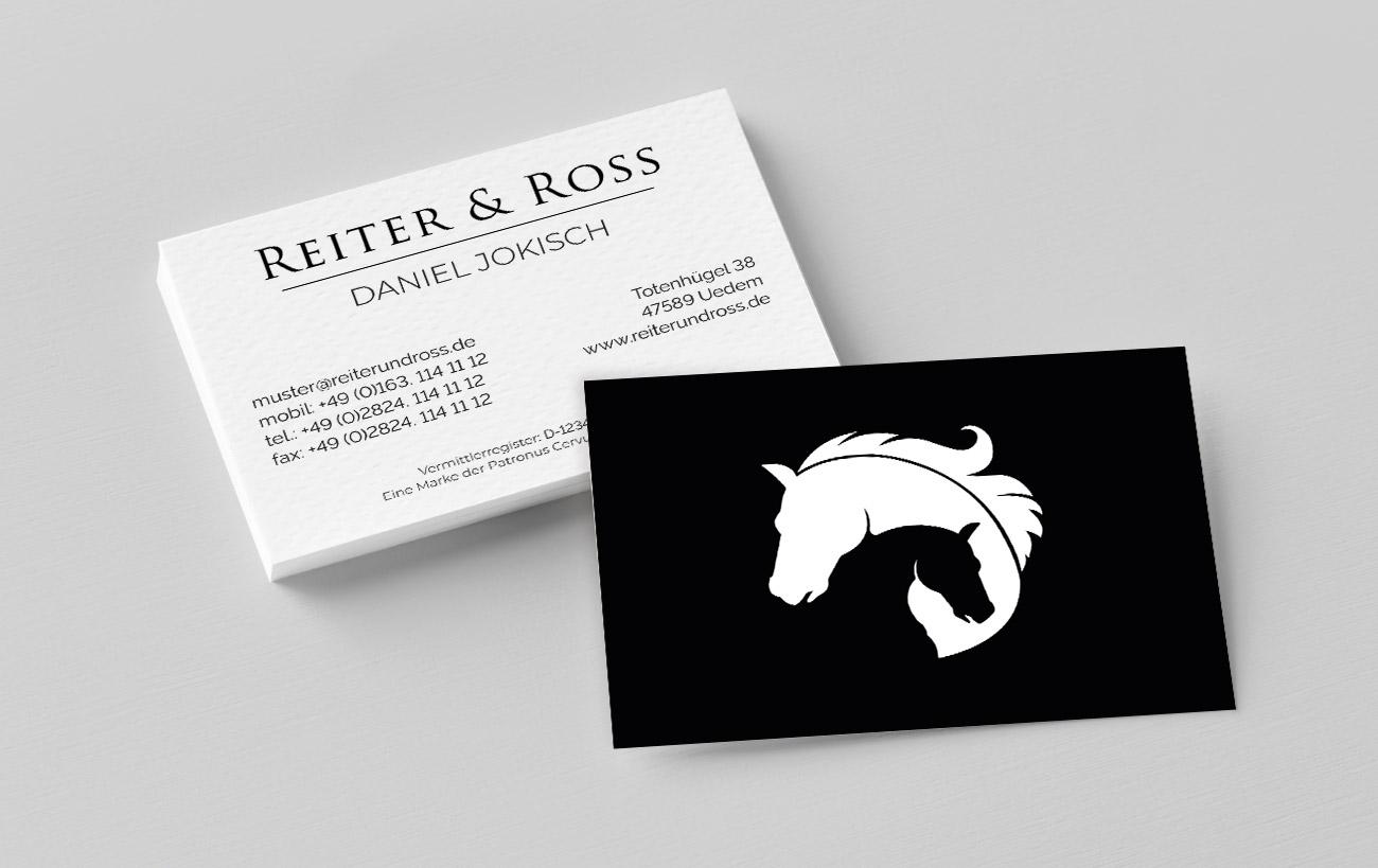 Corporate Design für Reiter&Ross - Visitenkarten Design