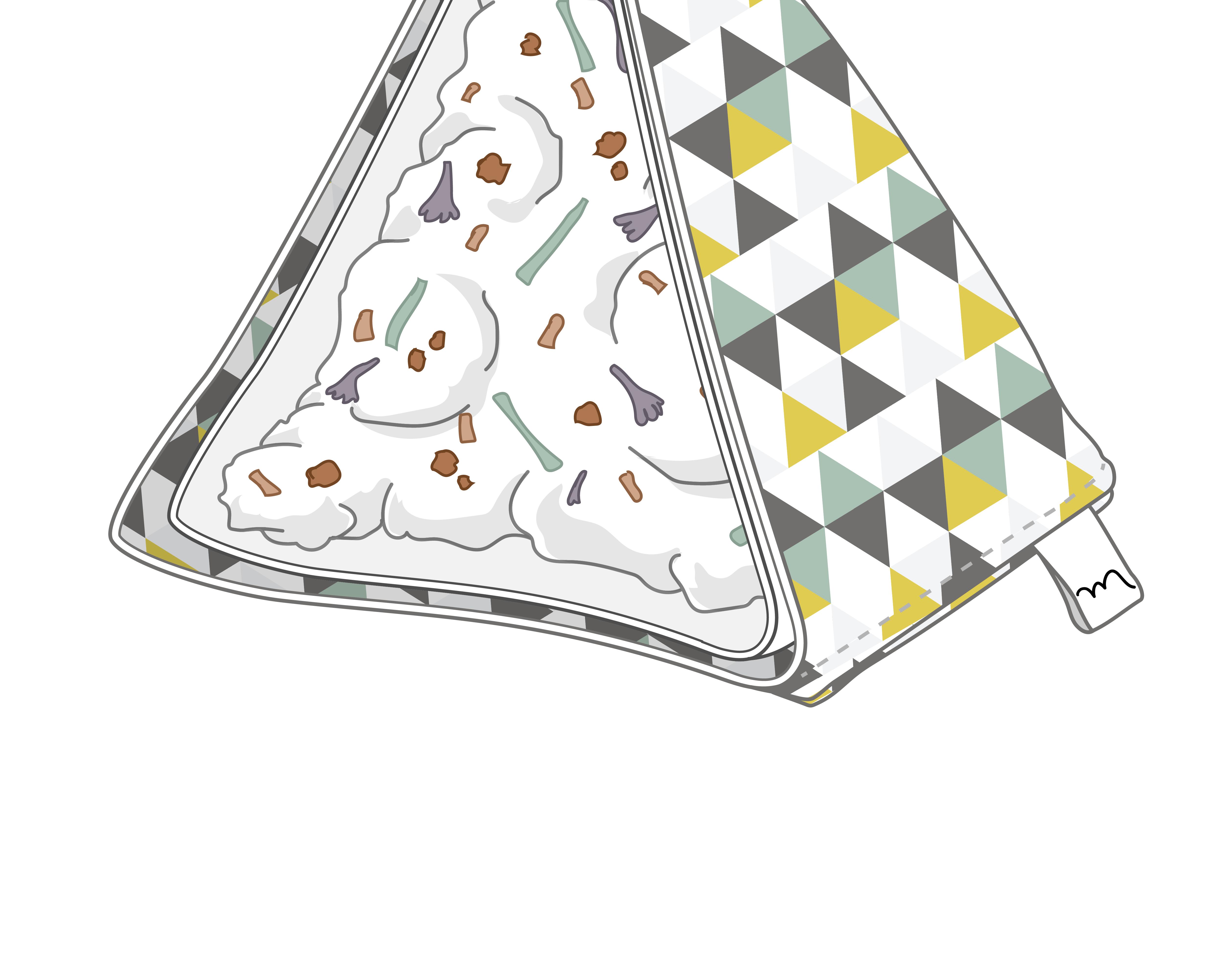 Beispiel für eine Gifograhpic der Yip Yips Agentur für Design,; Illustration des Inhaltes eines Katzenspielzeugs