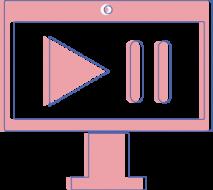 Illustration eines Laptops mit Play und Pause Button der Yip Yips Agentur
