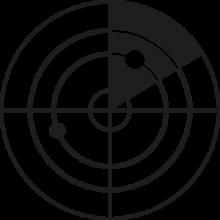 Beratungen im Bereich Online Marketing, dargestellt durch die Illustration eines Radars